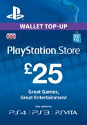 Playstation Network Card - £25 (PS Vita/PS3/PS4) - Instant Download