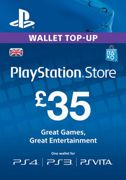 Playstation Network Card - £35 (PS Vita/PS3/PS4) - Instant Download