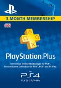 PlayStation Plus - 3 Month Subscription (UK) - Instant Download