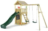 Plum Lookout Tower Wooden Climbing Frame with Swings & Slide