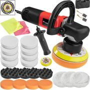 Polisher set dual action 710W - 25 pc. set