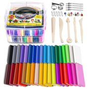 Polymer Clay, 36 Colours Modeling Clay Soft and Nontoxic Oven Bake Clay Kit with Tools and Storage Box, Birthday Gifts for Kids