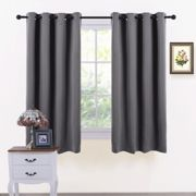PONY DANCE Thermal Blackout Curtains - Short Window Treatments Blackout Curtain Draperies for Kitchen Living Room Bedroom Bay Window/Home...