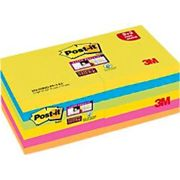 Post-it Super Sticky Notes 76 x 76 mm Assorted Colours 90 Sheets Value Pack 9+3 Free