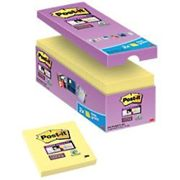 Post-it Super Sticky Notes 76 x 76 mm Canary Yellow 90 Sheets Value Pack 14 + 2 Free