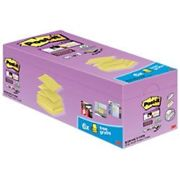Post-it Super Sticky Z-Notes 76 x 76 mm Canary Yellow 90 Sheets Value Pack 16 + 4 Free