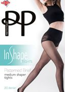 Pretty Polly In Shape Patterned Brief Medium Shaper Tights