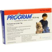 PROGRAM 67,8 mg 2,5-7 kg Tabl.f.Hunde film-coated tablets 6 units