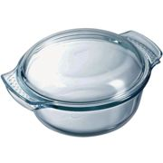 Pyrex Round Glass Casserole with Lid - 3.5L