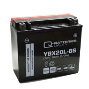 Q-Batteries Motorcycle battery YBX20L-BS 51822 AGM 12V 18Ah 270A