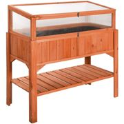 Raised bed with cold frame attachment - brown