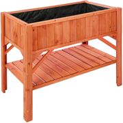 Raised bed with storage - brown