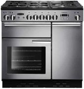 Rangemaster PROP90NGFSS/C Professional Plus Stainless Steel with Chrome Trim 90cm Gas Range Cooker