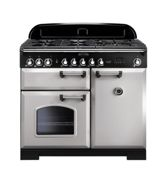 Rangemaster CDL100DFFRP/C Classic Deluxe 100cm Dual Fuel Range Cooker - Royal Pearl/Chrome