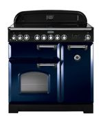 Rangemaster CDL90ECRB/C Classic Deluxe 90cm Electric Ceramic Range Cooker - Blue/Chrome
