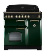 Rangemaster CDL90ECRG/B Classic Deluxe 90cm Electric Ceramic Range Cooker Racing Green/Brass