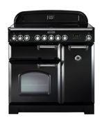 Rangemaster CDL90EIBL/C Classic Deluxe 90cm Electric Induction Range Cooker - Black/Chrome