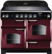 Rangemaster CLA110EICY/C Classic Electric Induction 110cm Range Cooker Cranberry Chrome