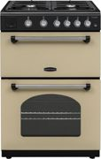 Rangemaster CLA60NGFCR/C Classic Cream with Chrome Trim Gas Cooker with Double Oven