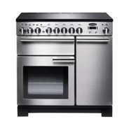 Rangemaster PDL90EISS/C Professional Deluxe 90 Induction Hob Range Cooker, Stainless Steel