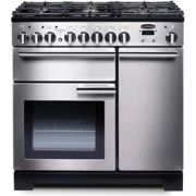 Rangemaster PDL90DFFSS/C Professional Deluxe 90 Dual Fuel Range Cooker, Stainless Steel