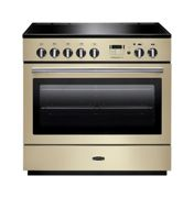 Rangemaster PROP90FXEICR/C Professional Plus FX 90 Electric Induction Range Cooker Cream/Chrome