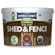 (Red Cedar, 9L) Johnstones One Coat Shed And Fence