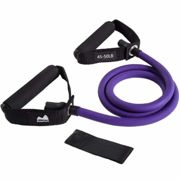 REEHUT Single Resistance Band, Exercise Tube - With Door Anchor and Manual Green, For Resistance Training, Physical Therapy, Home Workouts, Boxing...