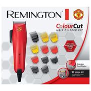 Remington Colour Cut Hair Clippers 9 Variable Trimming Combs - Manchester United