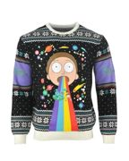 Rick & Morty: Rainbow Christmas Jumper / Ugly Sweater UK XL /US L