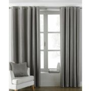 Riva Home Atlantic Eyelet Ringtop Curtains (229 x 137cm) (Grey)
