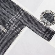 Riva Home Aviemore Checked Pattern Ringtop Curtains (66 x 54in (168 x 137cm)) (Thistle)