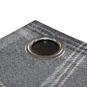 Riva Home Aviemore Checked Pattern Ringtop Curtains (66 x 72in (168 x 183cm)) (Rust)