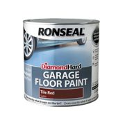 Ronseal Diamond Hard Garage Floor Paint Tile Red 2.5 litre