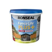 Ronseal Fence life plus Charcoal grey Matt Fence & shed Wood treatment 5L