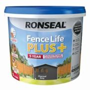 Ronseal Fence life plus Charcoal grey Matt Fence & shed Wood treatment 9L