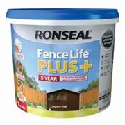 Ronseal Fence life plus Country oak Matt Fence & shed Wood treatment 9L