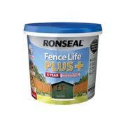 Ronseal RSLFLPPFG5L 5 Litre Fence Life Plus Paint - Forest Green