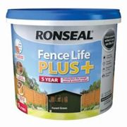 Ronseal Fence life plus Forest green Matt Fence & shed Wood treatment 9L