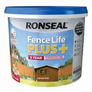 Ronseal Fence life plus Harvest gold Matt Fence & shed Wood treatment 9L