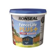 Ronseal Fence life plus Midnight blue Matt Fence & shed Wood treatment 5L