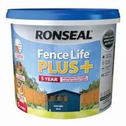 Ronseal Fence life plus Midnight blue Matt Fence & shed Wood treatment 9L