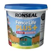 Ronseal Fence life plus Teal Matt Fence & shed Wood treatment 5L