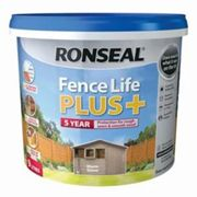 Ronseal Fence life plus Warm stone Matt Fence & shed Wood treatment 9L