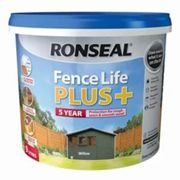 Ronseal Fence life plus Willow Matt Fence & shed Wood treatment 9L