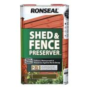 Ronseal Green Fence & shed Wood preserver 5L
