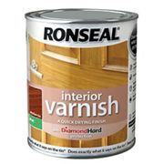 Ronseal Interior Varnish - Matt Medium Oak 750ml