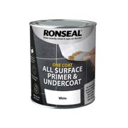Ronseal One Coat All Surface Primer & Undercoat Interior White 750ml