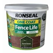 Ronseal 38291 One Coat Fence Forest Green 5 Litre
