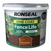 Ronseal One coat fence life Harvest gold Matt Fence & shed Treatment 9L